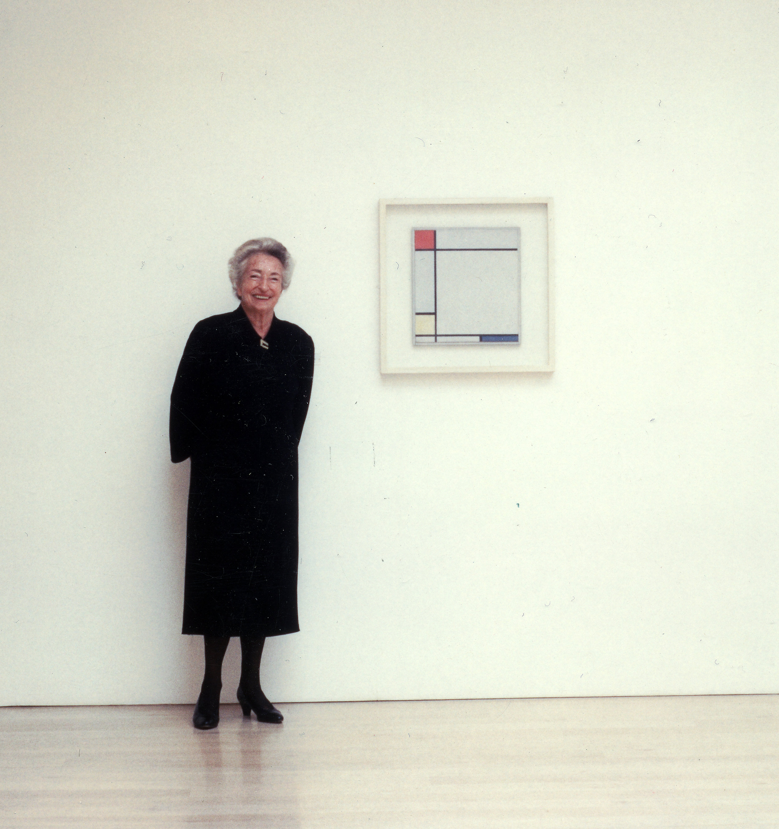 Annely Juda photographed in her gallery, 2004
