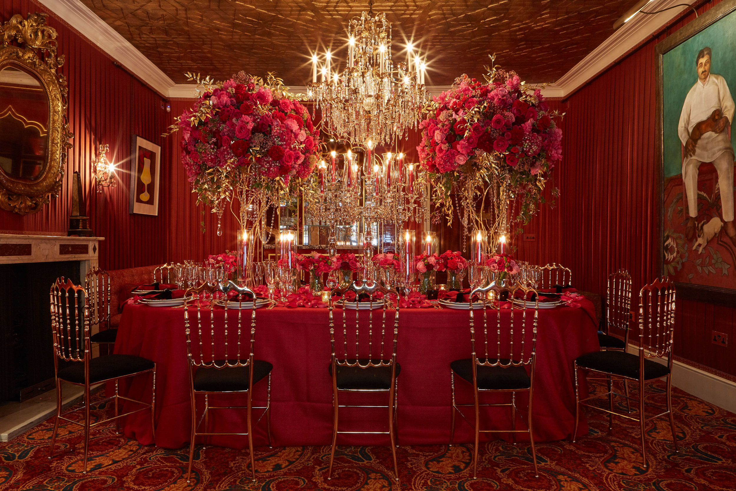 Evoking a sense of romance, Mark's Club can adapt to make your creative vision a reality