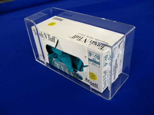 "Single Glove Box Dispenser   Item #  1100-5750  Price:  $21.70 each  Dimensions:  11.00"" W x 5.75"" H x 3.75"" I.D."