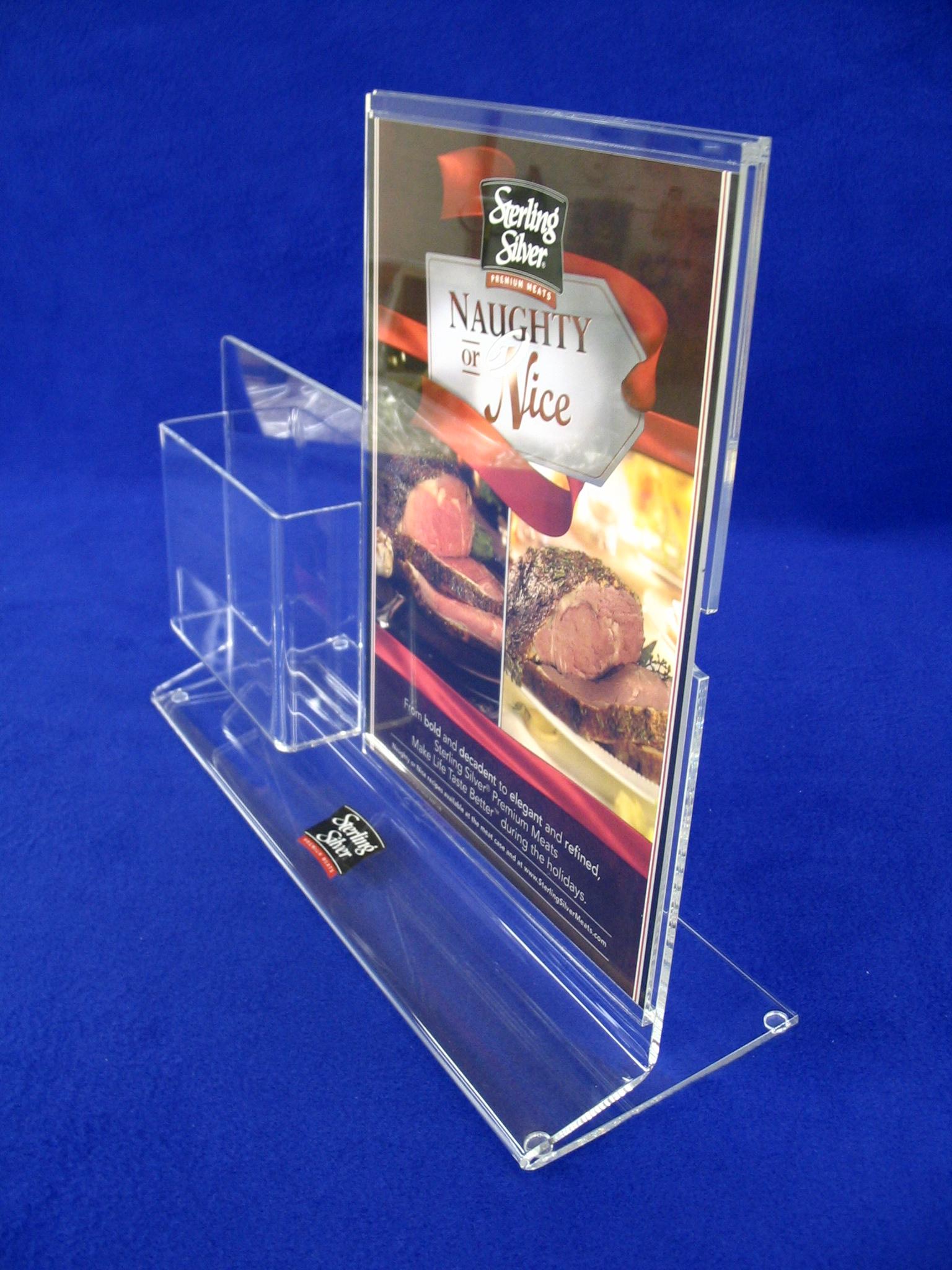 Desk Top Sign & Trifold Brochure Holder