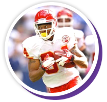 former NFL football player, who has played for the Carolina Panthers, Detroit Lions, Denver Broncos, Seattle Seahawks & Kansas City Chiefs.