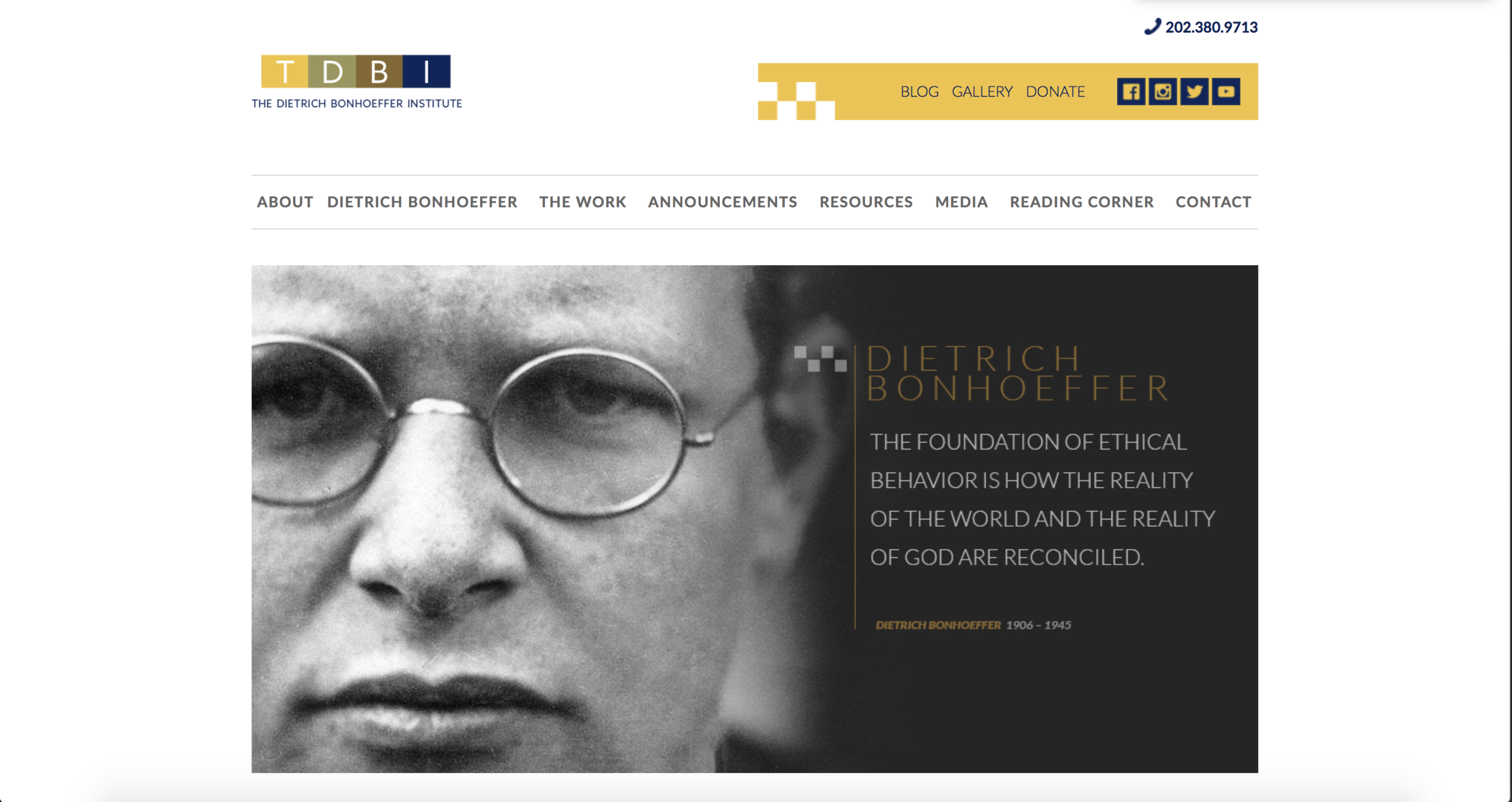 The Dietrich Bonhoeffer Institute: Website