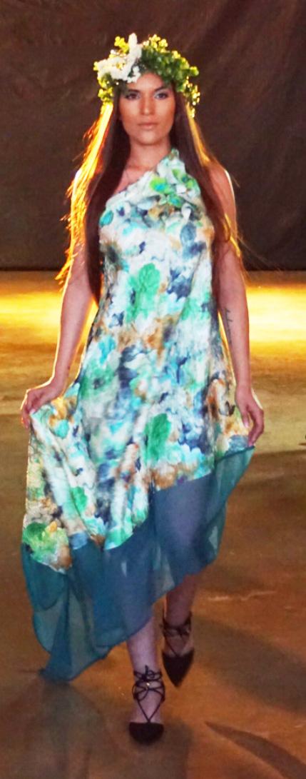 Assymetric Floral Green Gown.jpg
