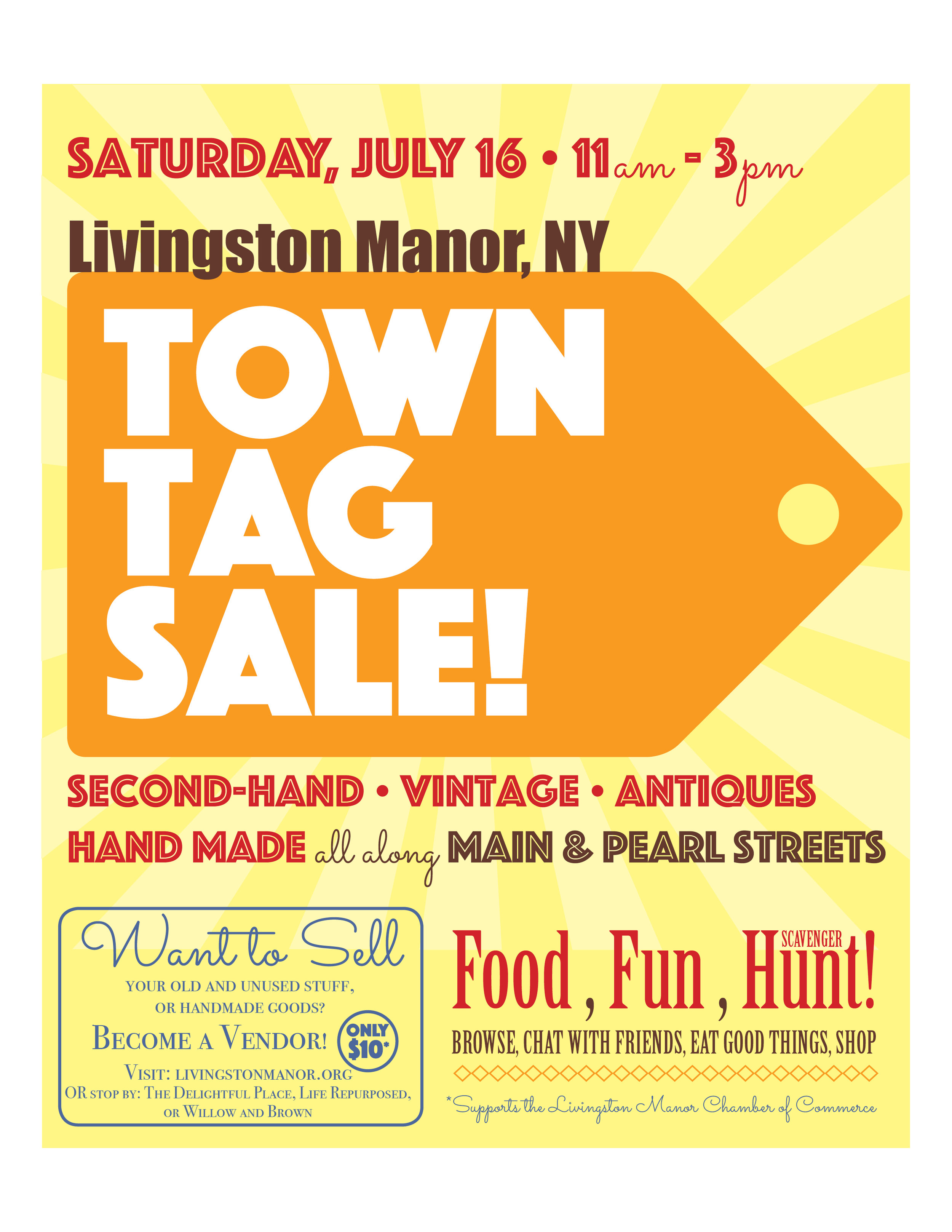 Town Tag Sale Logo and Poster