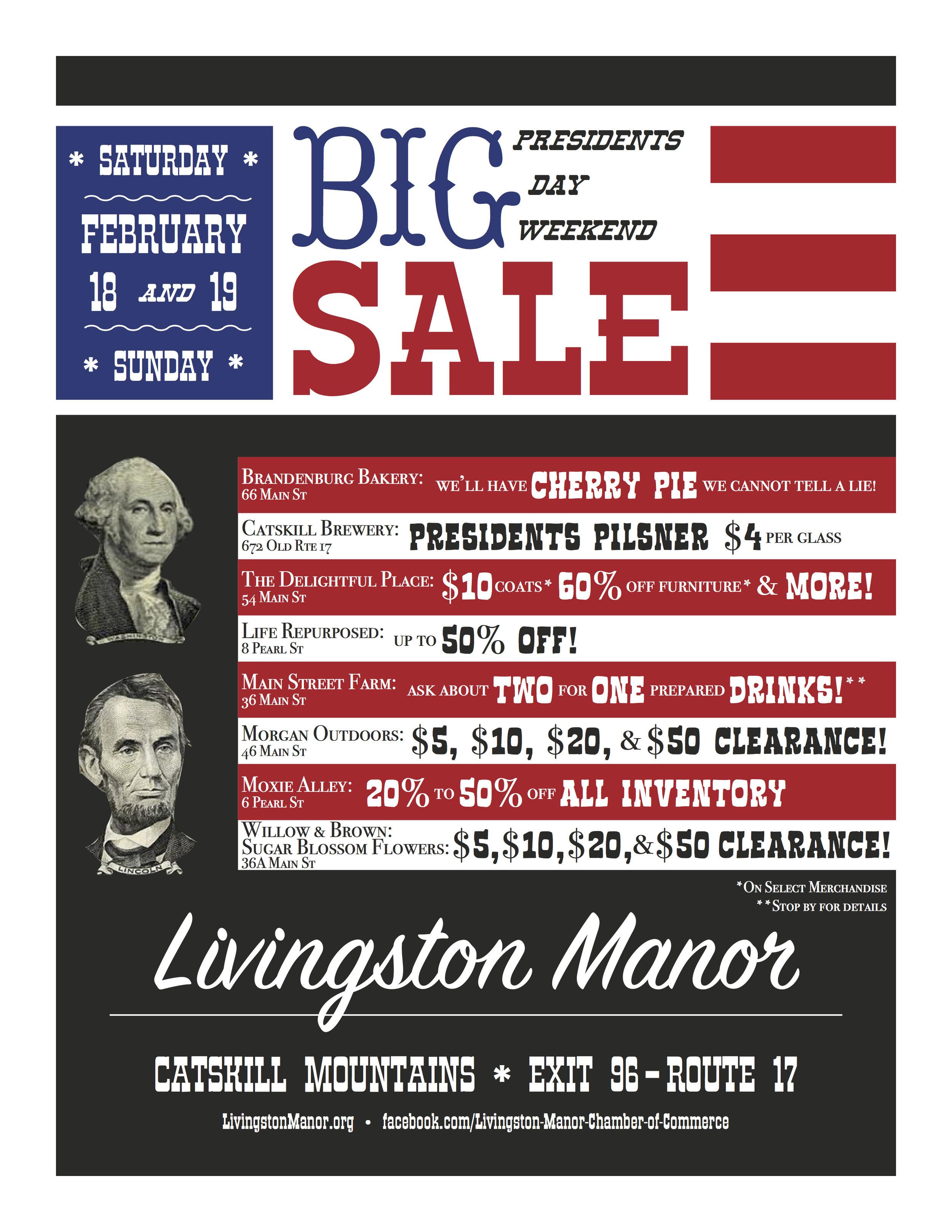 Presidents Day Weekend Big Sale