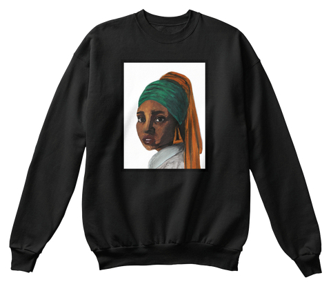 """Girl with the Doorknockers"" sweatshirt  (more colors available)   $33.99"