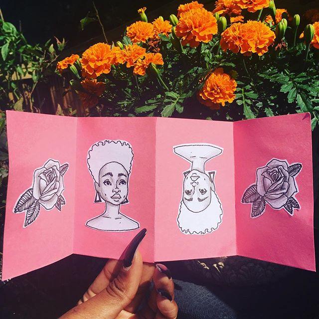 Blossom.  Pencil, pen, collage. 2017.