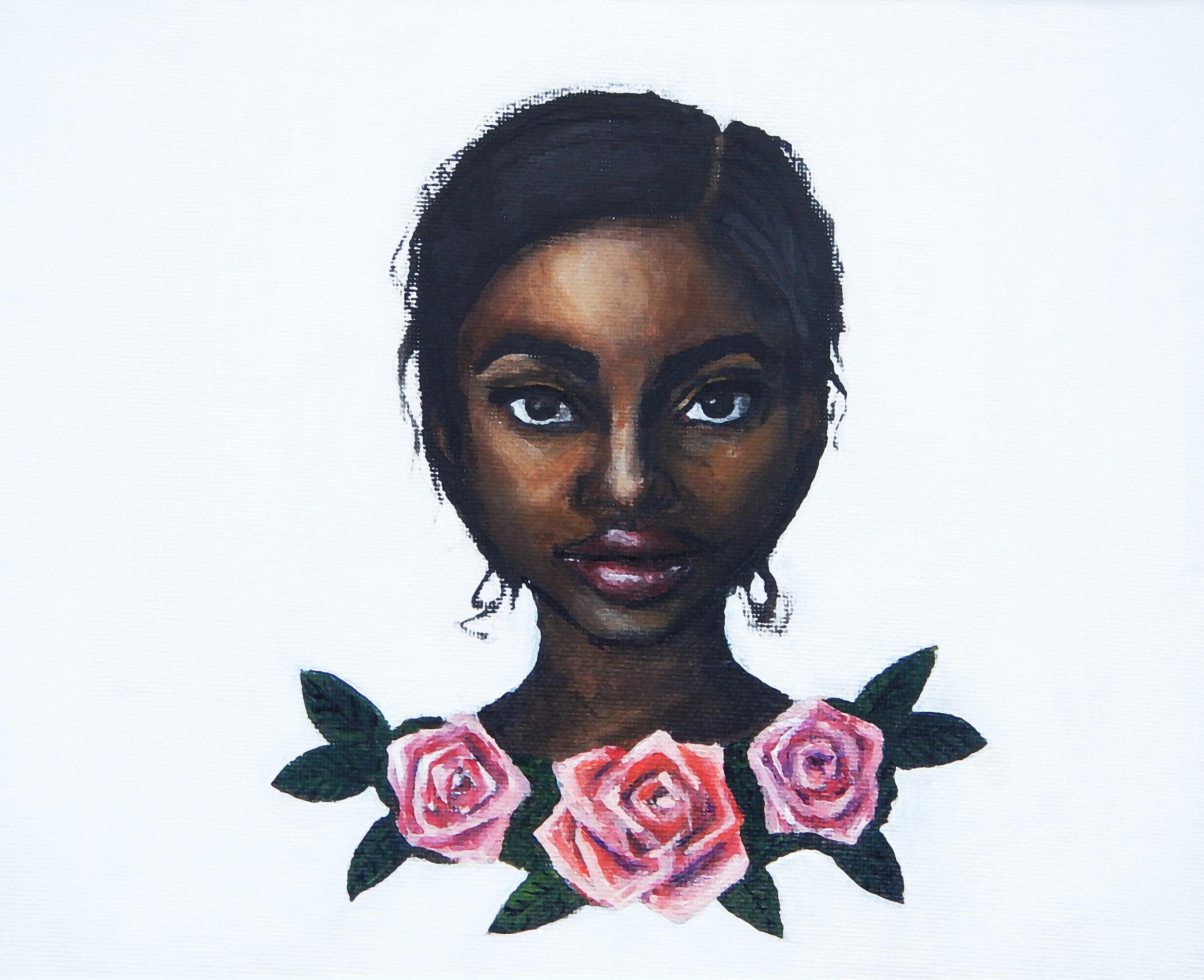 Grace . Acrylic on canvas. 2017.