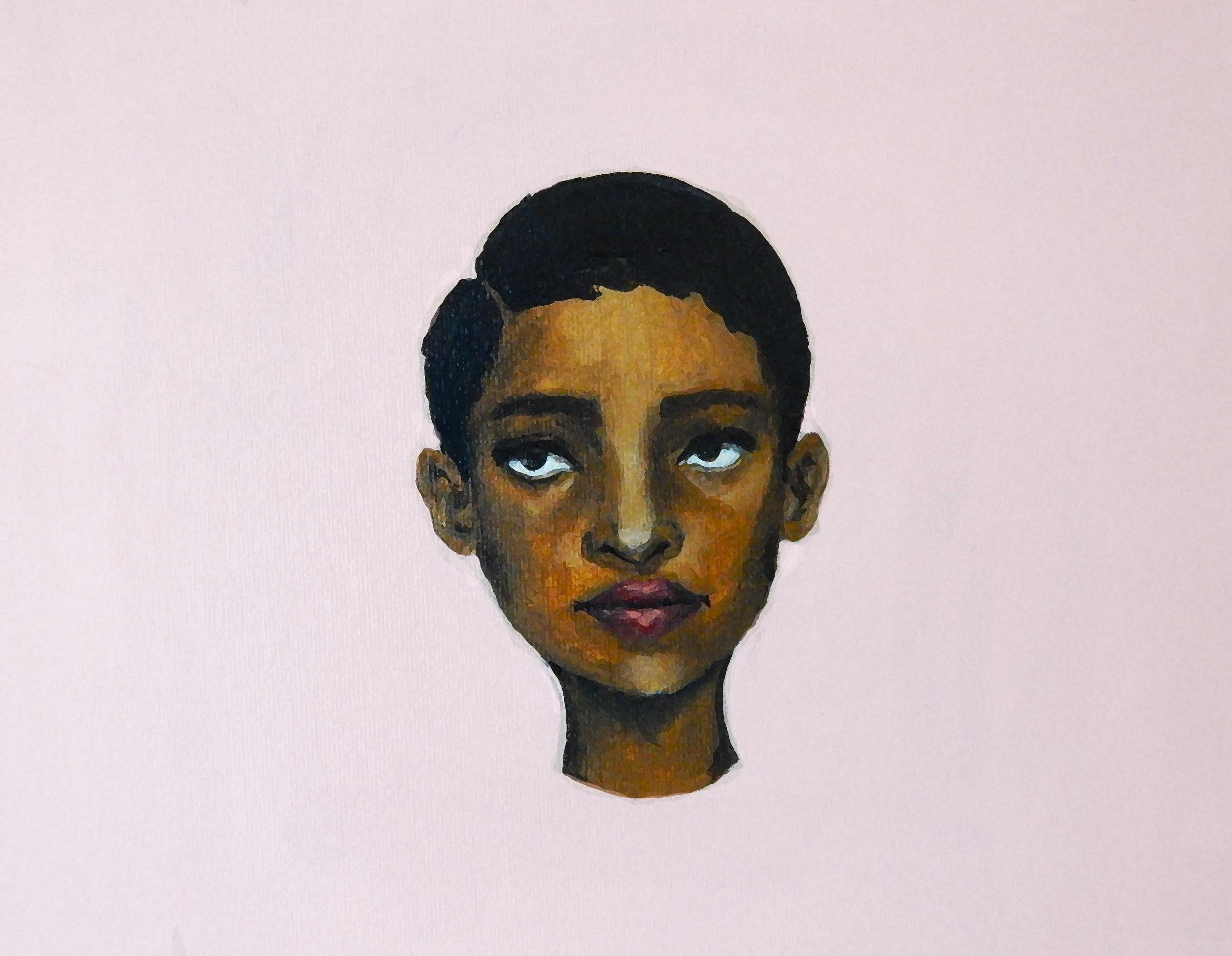 Wonder.  Acrylic on canvas. 2017.