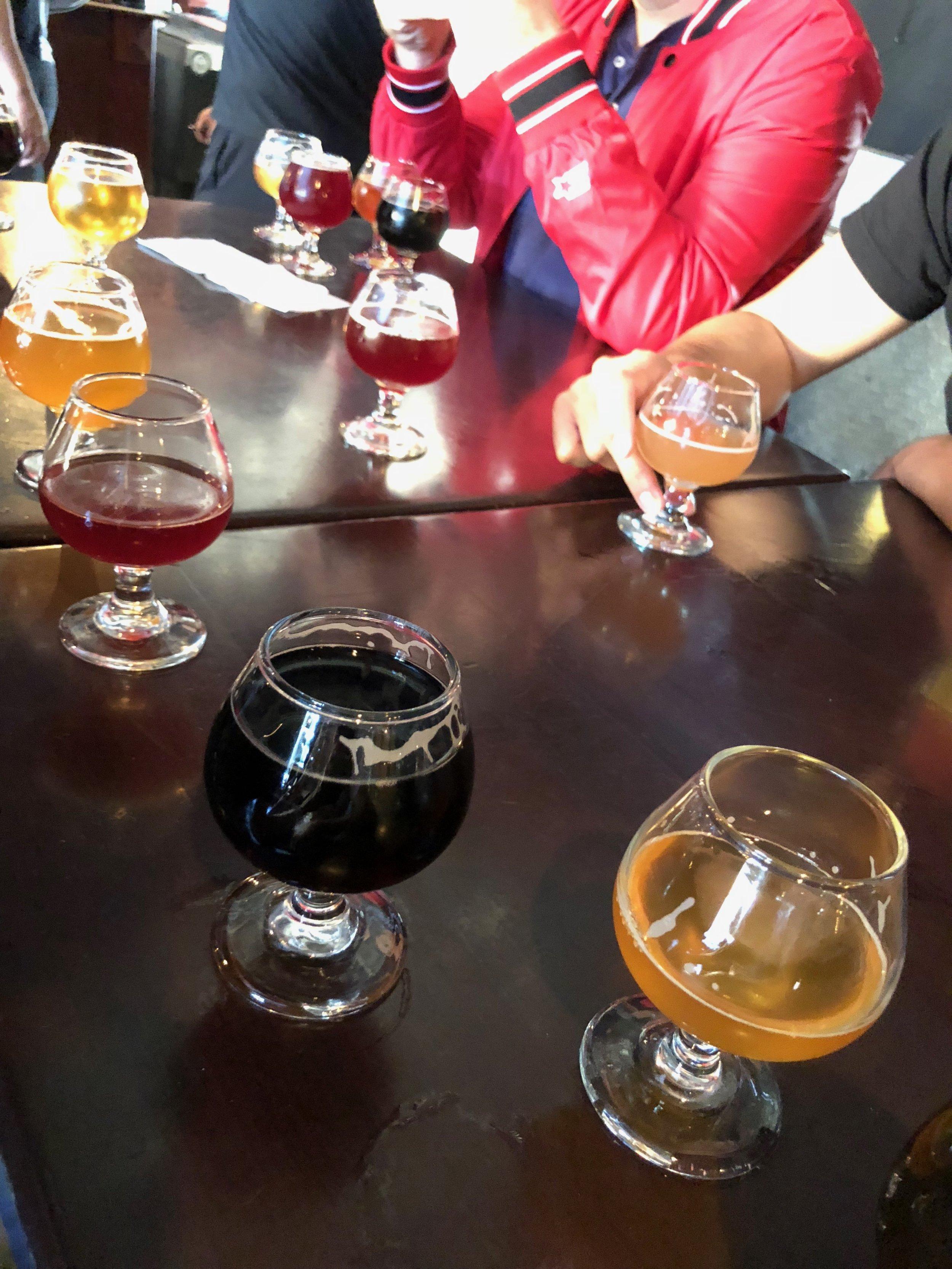 Beers at Border X in San Diego. Photo by Javier Cabral