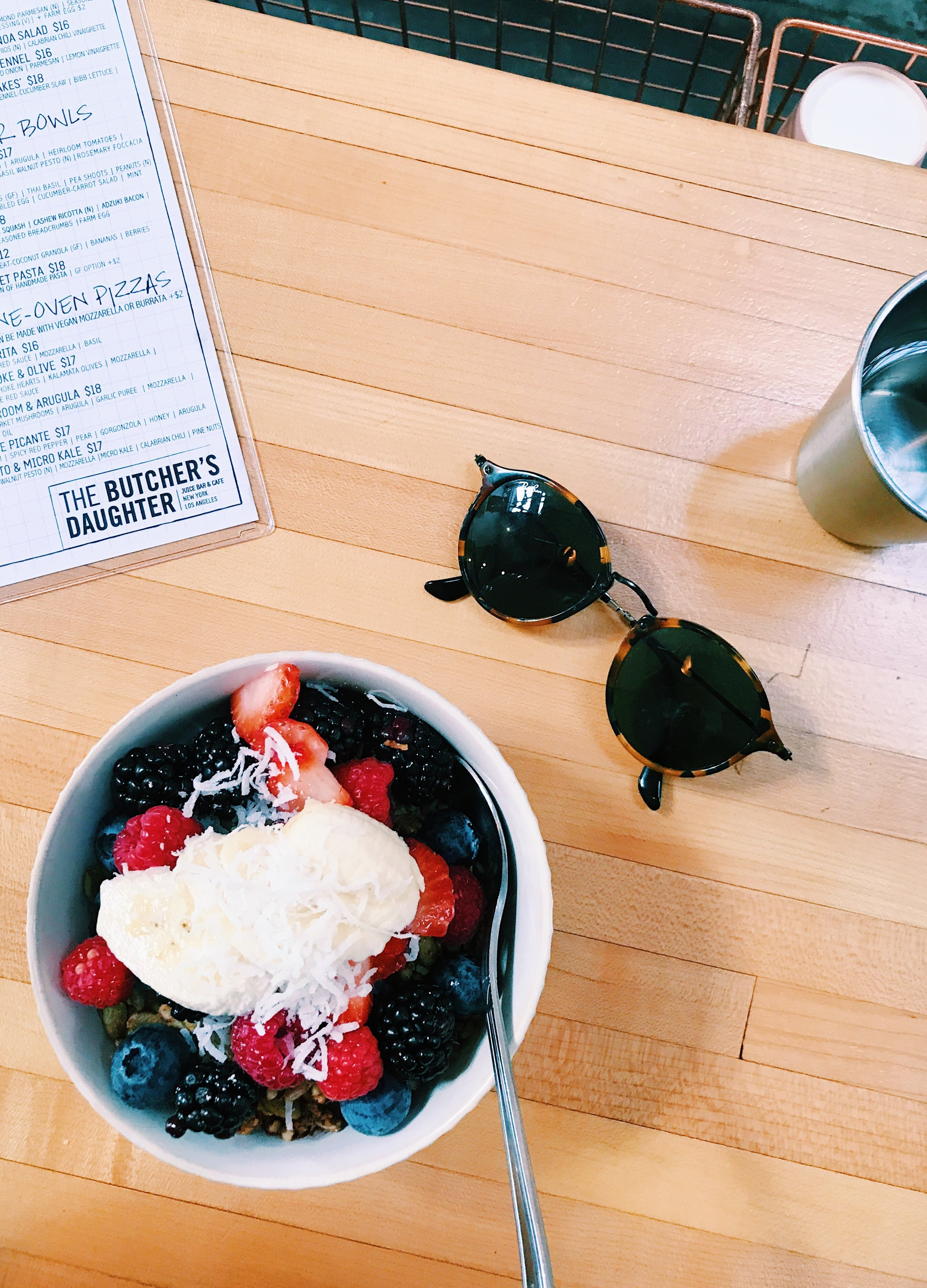 Acai Bowl at Butcher's Daughter LA
