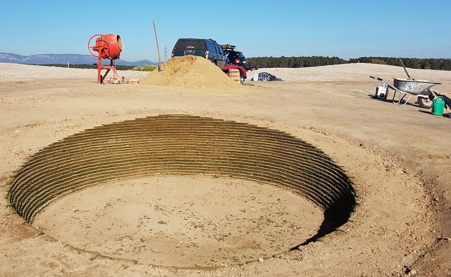 Ein typischer Links-Bunker