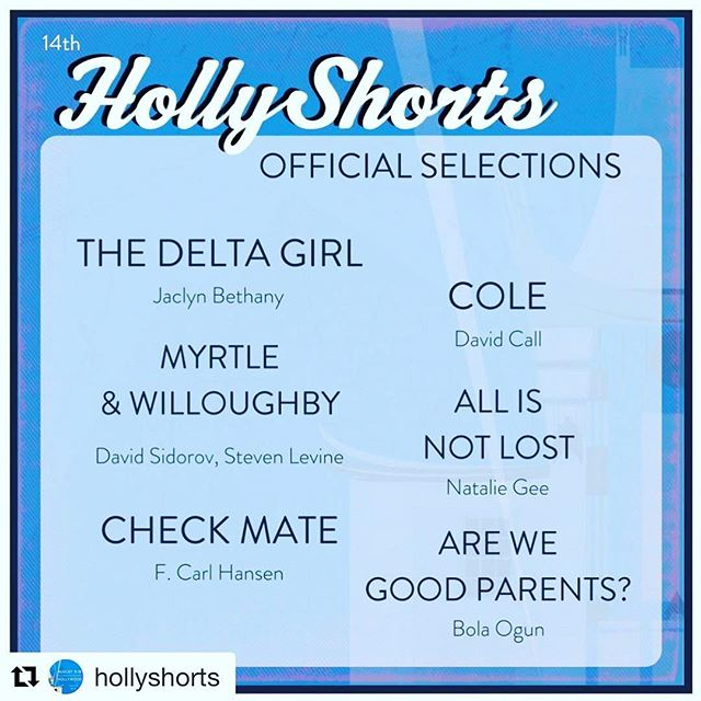 Feeling lucky to premiere @hollyshorts with these great filmmakers next month.