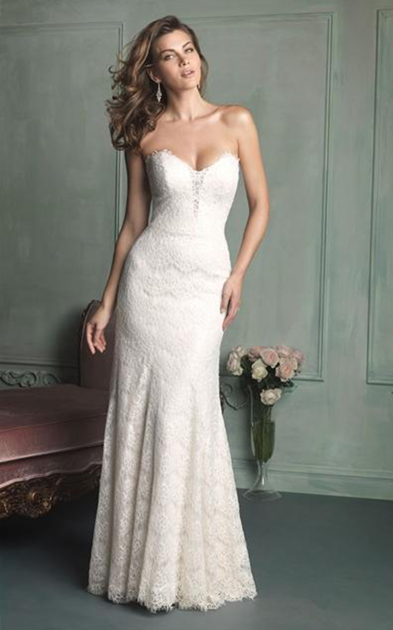 Allure | Style 9107  Size 8, Ivory  Reg. $1498.00  SALE $898.80