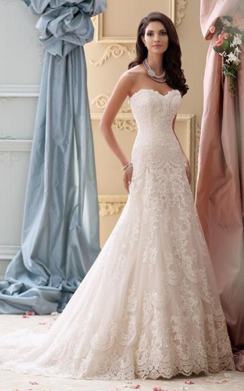 David Tutera | Style 115237  Size 12&14, Ivory/Gardenia  Reg. $2298  SALE $1378.80