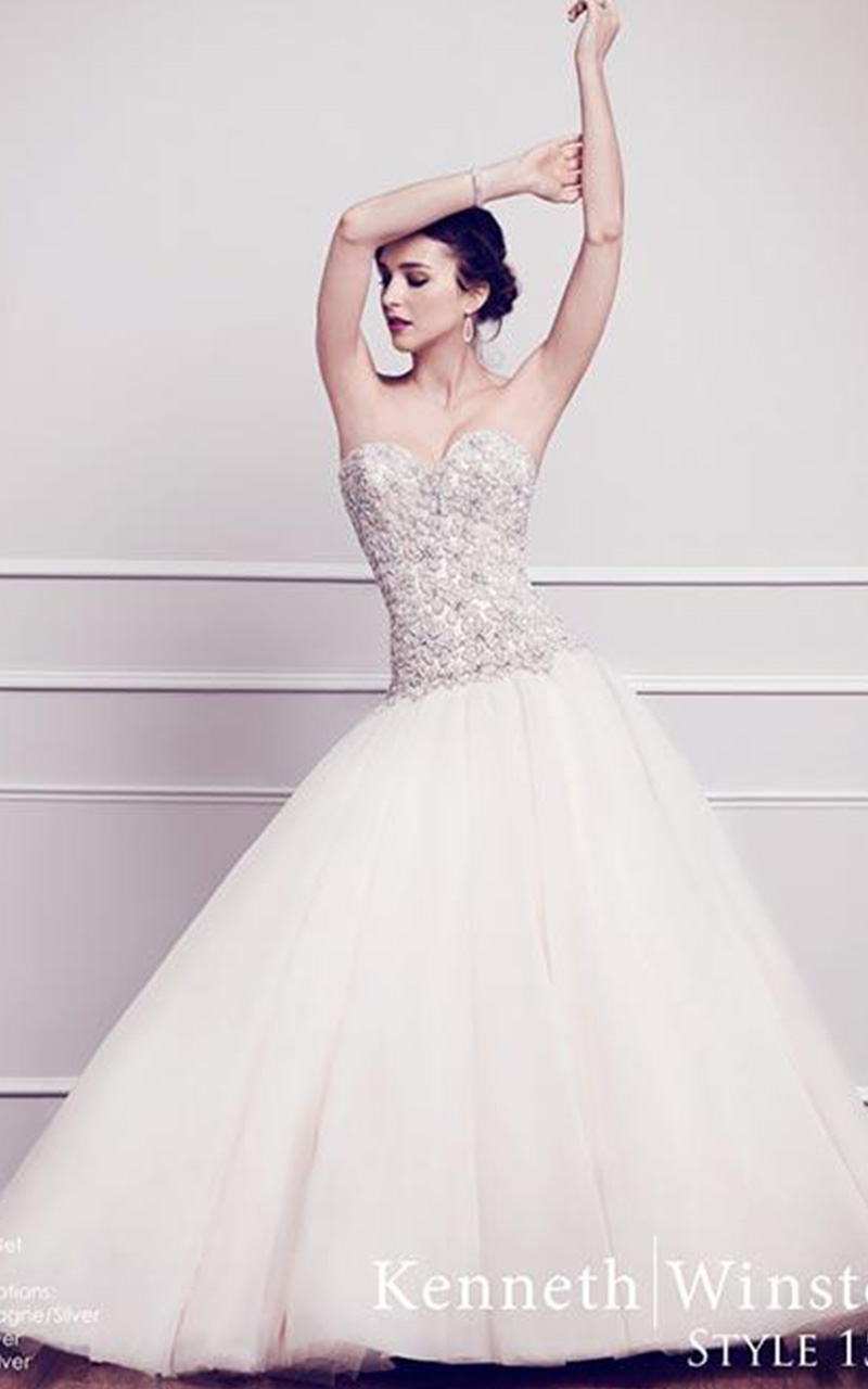 Kenneth Winston | Style 1562  Size 8, White  Reg. $2300.00  SALE $1150.00