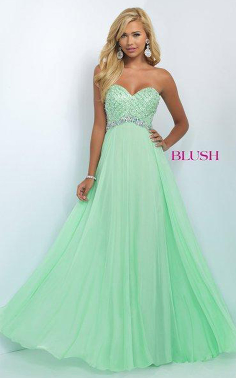 Blush | Style 11050  Size 10, Color Honeydew