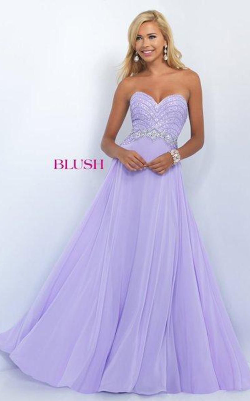Blush | Style 11070  Size 10, Lilac