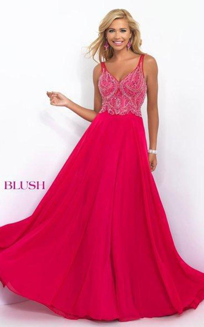 Blush | Style 11058  Size 8, Navy; Size 14, Pool