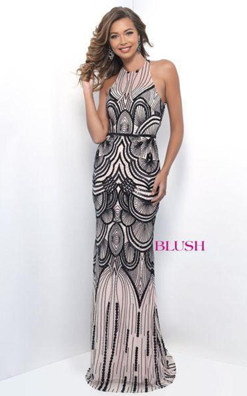 Blush | Style 11262  Size 8, Black Nude