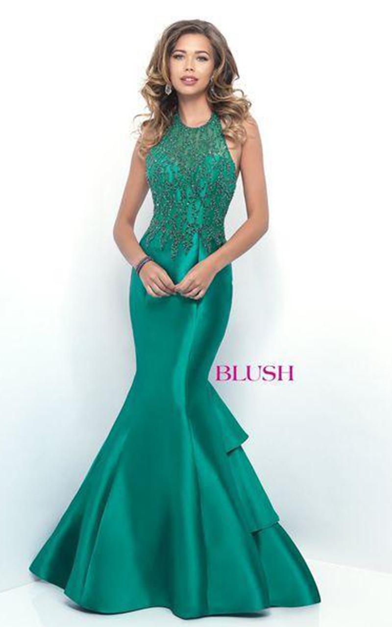 Blush | Style 11312  Size 6, Emerald;  Size 12, Navy