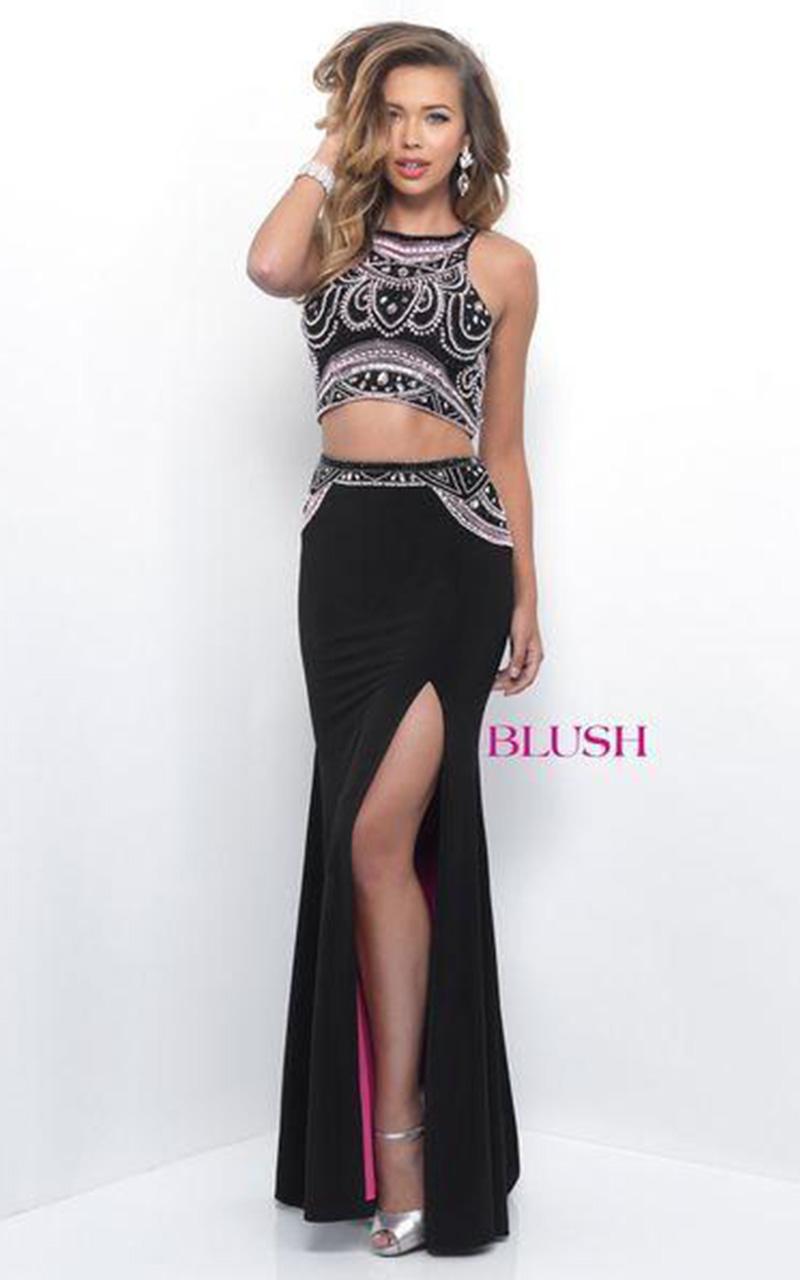Blush | Style 11200  Size 6, Black Pink