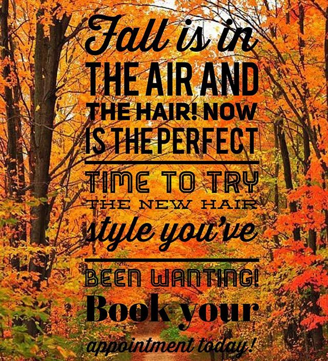 Have you been on Pinterest looking at fall hair colors and cute bob hair cuts? Well now is the perfect time to book an appointment at Salon Beni and make the hair change you've been eying! 🍂🍁✂️🎨