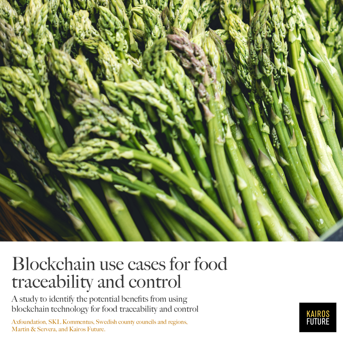 Interesting reading, March 2018.    Blockchain use cases for food traceability and control     By: Axfoundation, SKL Kommentus, Martin & Servera, Kairos Future, and Sustainable Public Procurement.   A study to identify the potential benefits from using blockchain technology for food traceability and control.