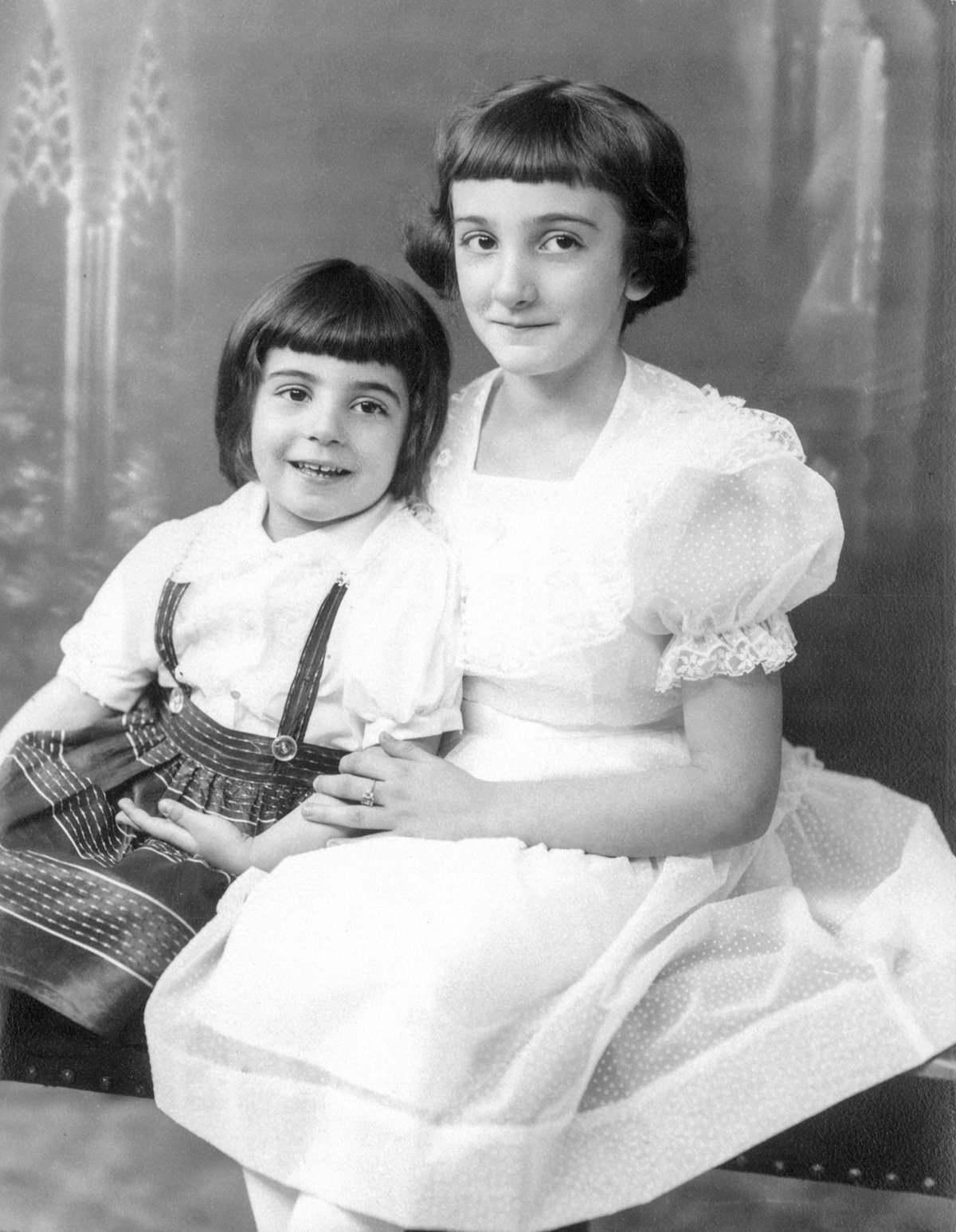 Sis and me in my first communion photo, circa 1954