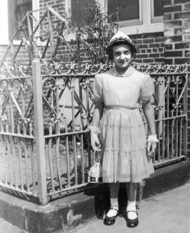 Me in front of Grandpa Neri's house, circa 1956-57