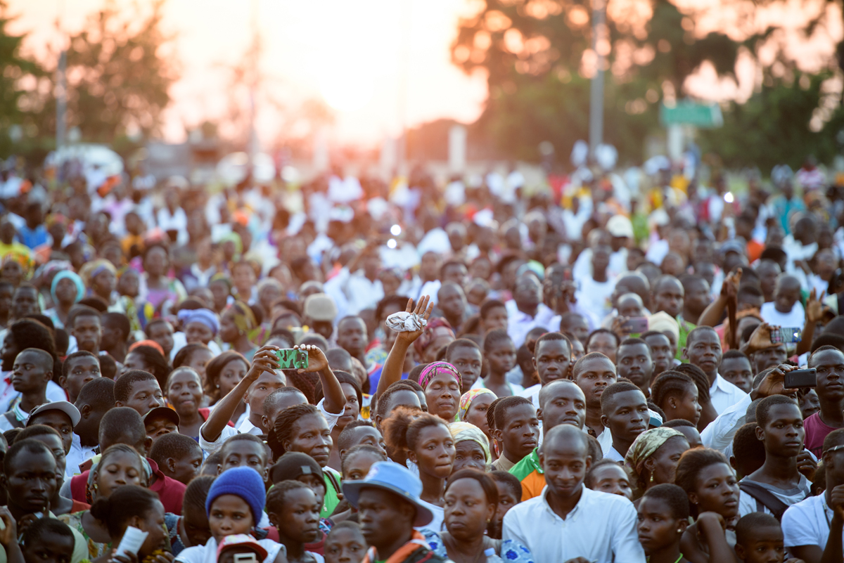 Thousands turned out for the first day of the festival in Yamoussoukro.