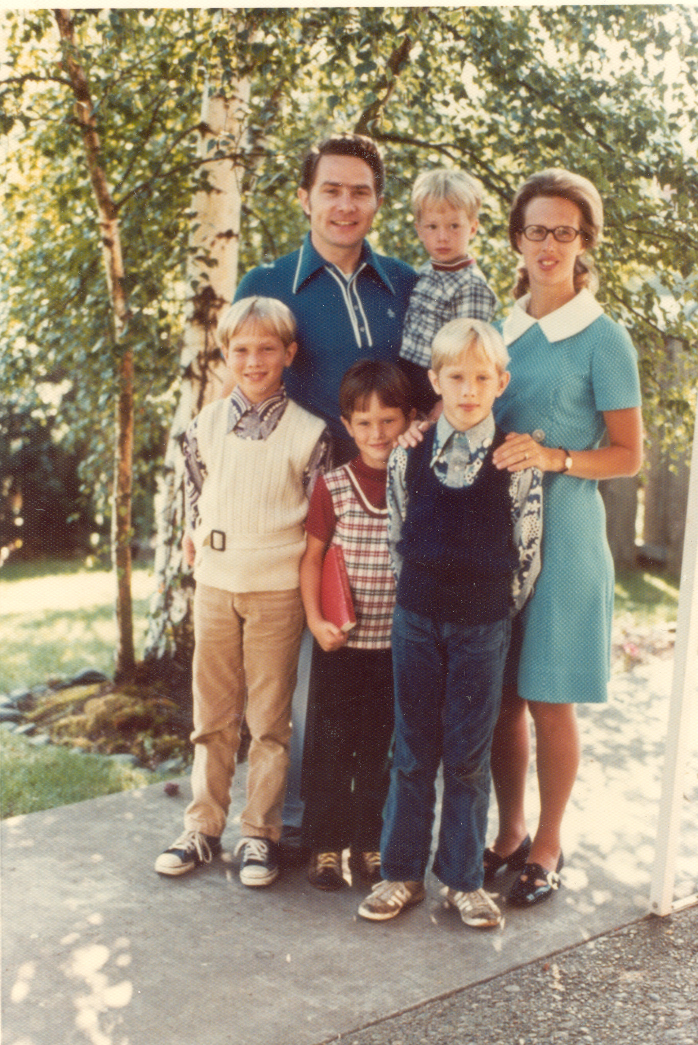 Luis and Pat with their four sons, Kevin, Keith, Andrew, and Steven.