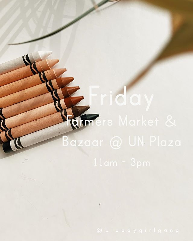 A NEW market day has launched in UN Plaza: on Fridays from 7am to 4pm, UN Plaza will feature the best of San Francisco! With the kind support of @civiccentercommons @square & our talented @sfetsy team, @bloodygirlgang will be there this Friday 7/26 with a fun coloring activity! Shop local produce and meet the makers that are going to be there from 11am - 3pm. 🖍 . . . #coloringfun #coloringpage #intersectionalfeminism #artistofcolor #diversityandinclusion #representationmatters #feministartist #civiccentercommons #ccc #fUNfridays #shoptheplaza #sfetsy #supportwomenartists #multiculturalcrayons @crayola #farmersmarket #giftgallery #UNPlaza #multicultural #supportyourlocalartist #supportlocalsmallbusiness #bggexcursion💃🏻 #bloodygirlgang