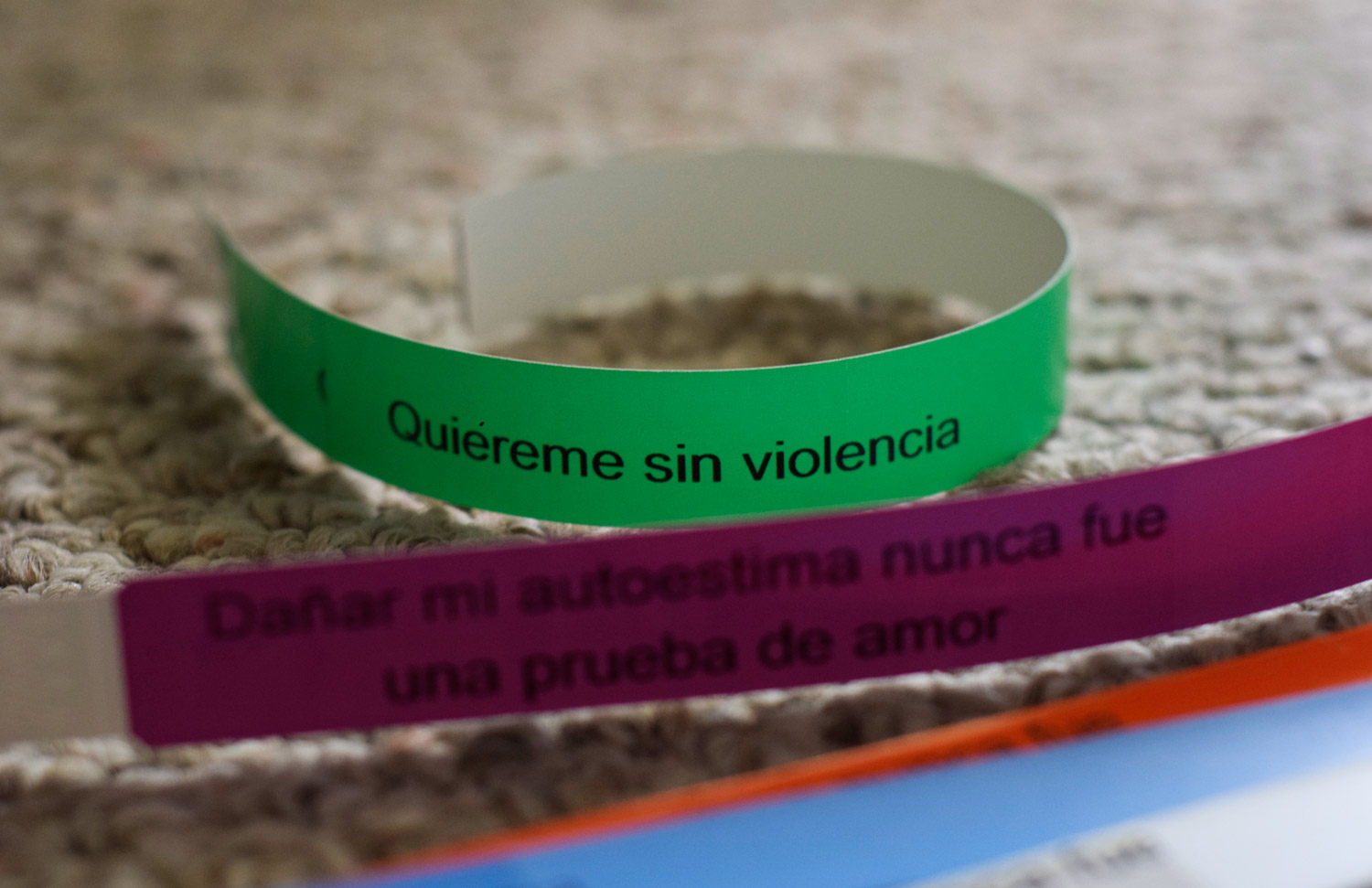 Wristband distributed during campaign events to participants