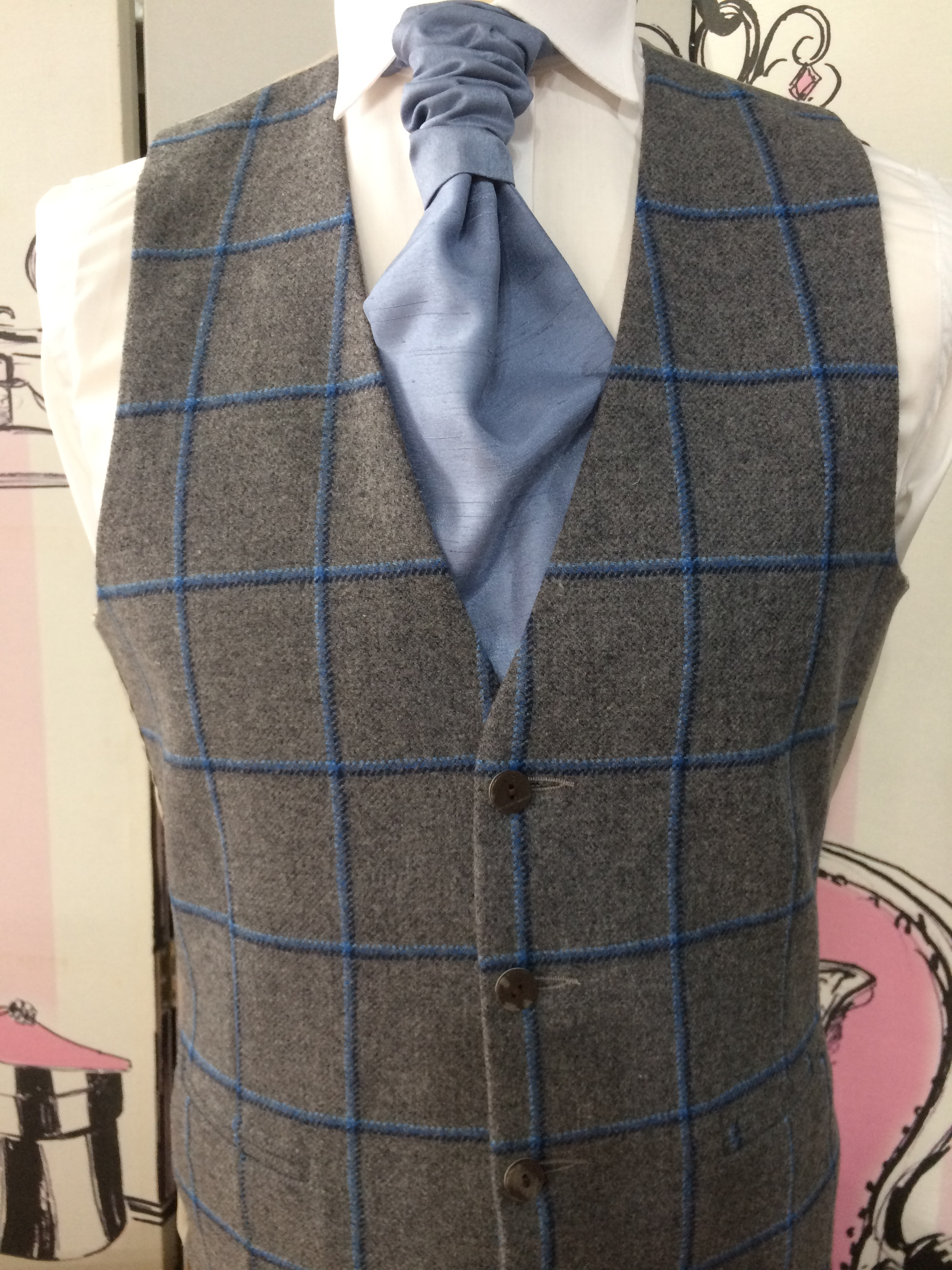 Two Blues & Grey Tweed