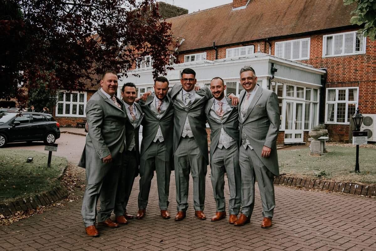 Olie and his wedding team - We hired our suits from Mr Mackys 3 months ago, we were over the moon with the help and feedback from them. The guys loved the suits and said they were very comfortable, even on returning the suits Paul made sure we could do it when it suited us even if that meant them opening the shop on their day off.Couldn't fault the service, thank you guys so much, we defiantly recommend this service to people and would definitely use again.