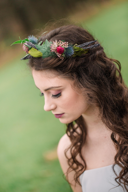 flower crowns on wedding day omaha des moines kansas city wedding florists lavender blue