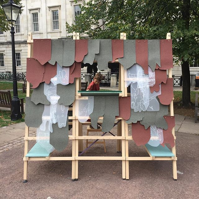 It's been an amazing day here at UCL. We've met so many creative people who have helped us clad our chalet with digital memories from their phones 🤗