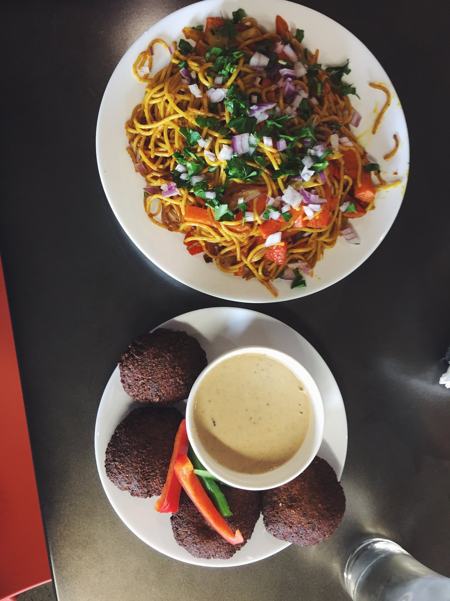 Chow mein and (more!) falafel