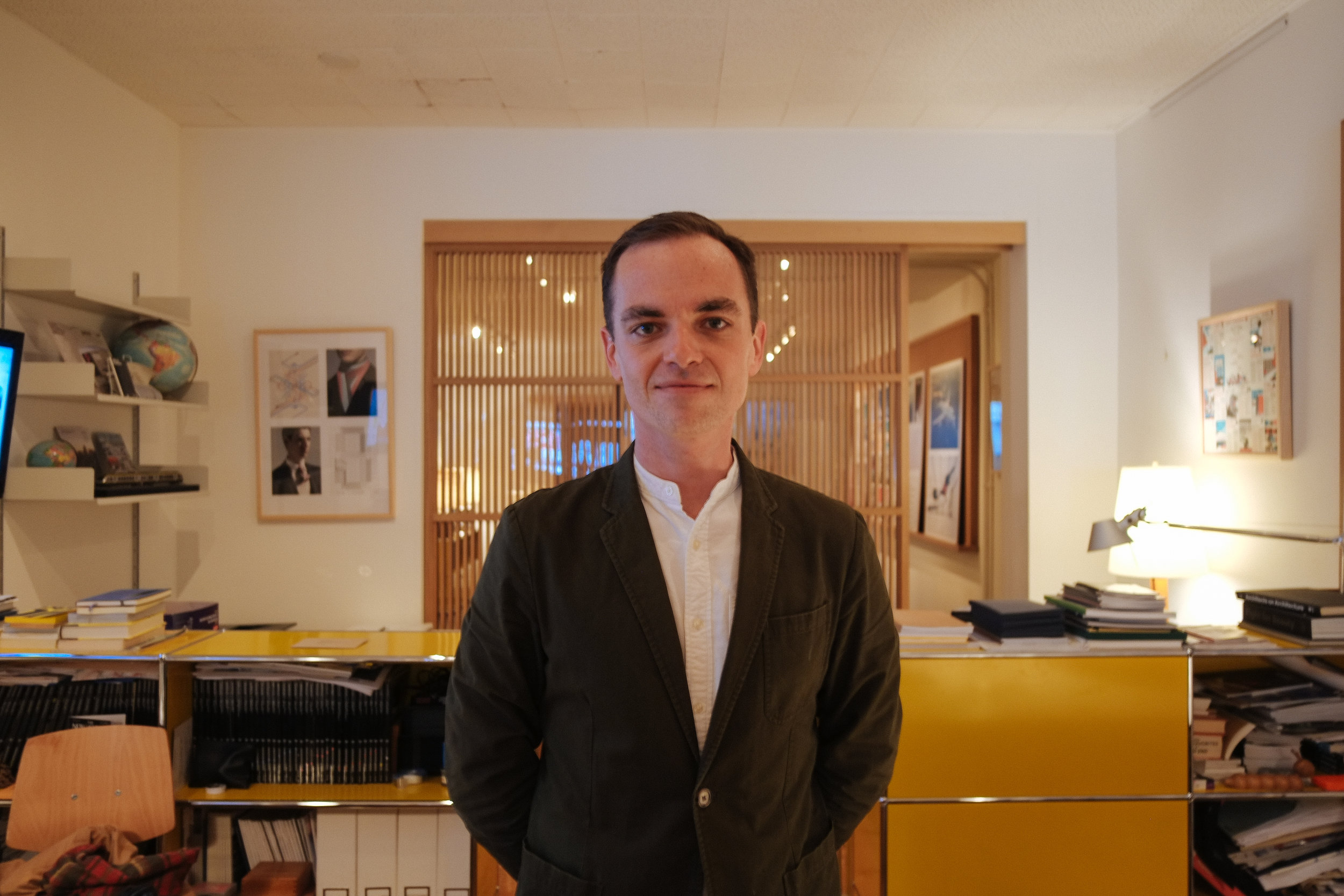 Monocle Bureau: Toronto - 2018-02-20: Stopped by the Monocle Toronto Bureau headquarters to visit my good friend and Bureau Chief, Tomas Lewis. I forced Tomas to take a photo and I promised I'd make him look good - even though I didn't modify this photo, I think I held up my end of the promise. I left with the strong desire to spend too much money on Monocle x Comme Des Garçons Scent 1: Hinoki.