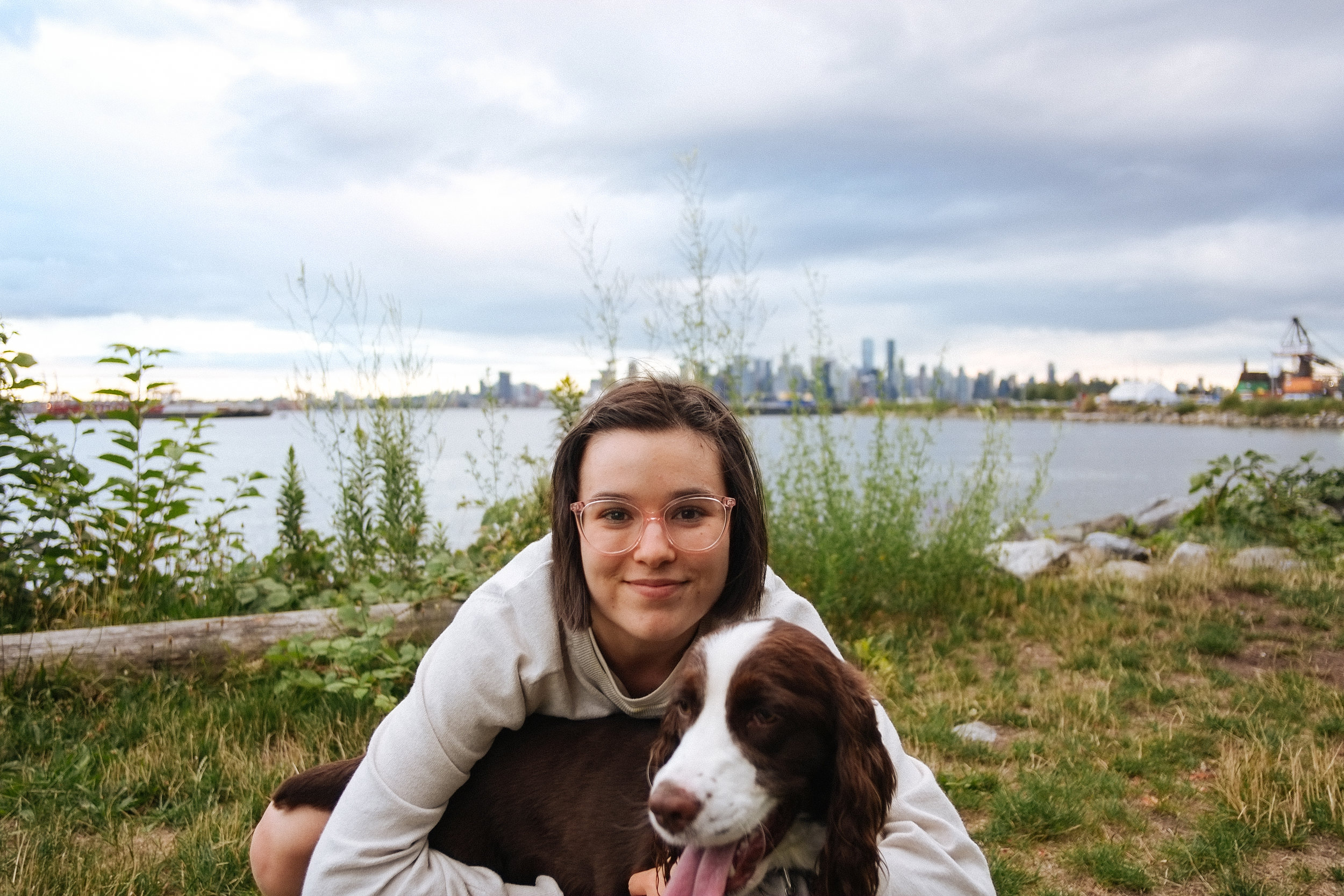Kings Mill Park, North Vancouver - 2018-07-01: We came on Canada Day to this secret little dog park on the North Shore of Vancouver. We left because of the rain… I know kind of wimpy - but we stayed dry and still had about an hour of Brassneck Sours and dog cuddles.