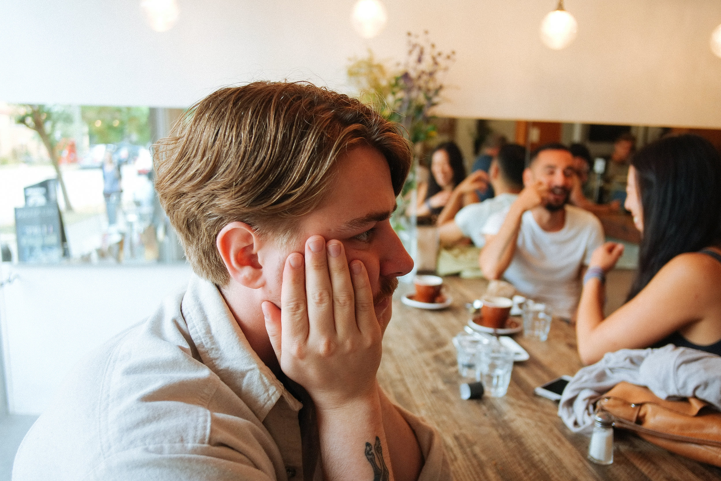 Greenhorn Cafe (Part II) - 2018-08-18: A very pensive Branton ponders over what record he will buy later in the day. A hard decision, but a very important one that was figured out throughout the rest of the day.