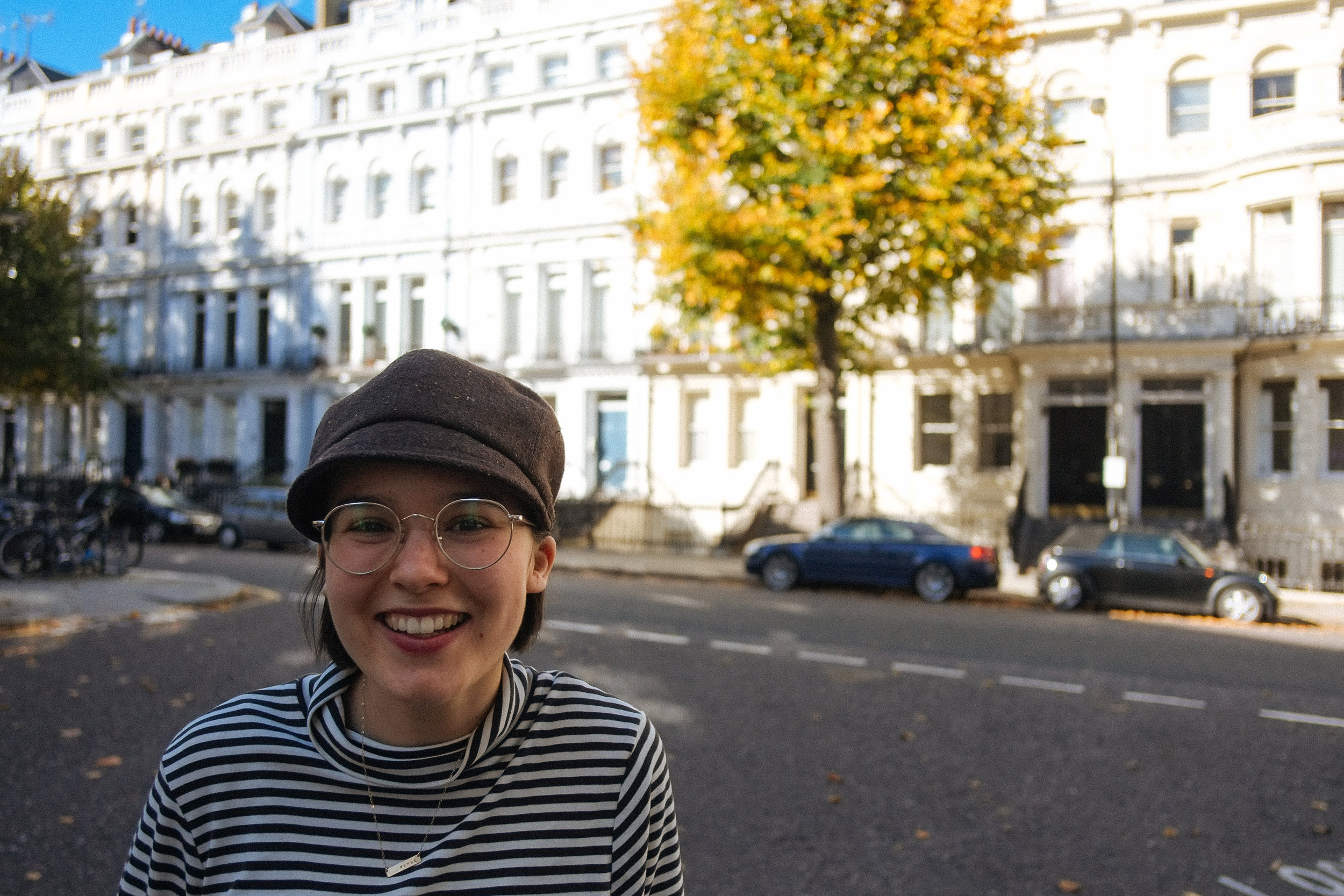 Notting Hill, UK - 2018-10-09: I stumbled off the airplane from YVR to LGW after flying (and layover-ing) for 24 hours… luckily I had a tour guide who had already acclimatized to UK time. We strolled through the Notting Hill district after walking along the North Side of Hyde Park.