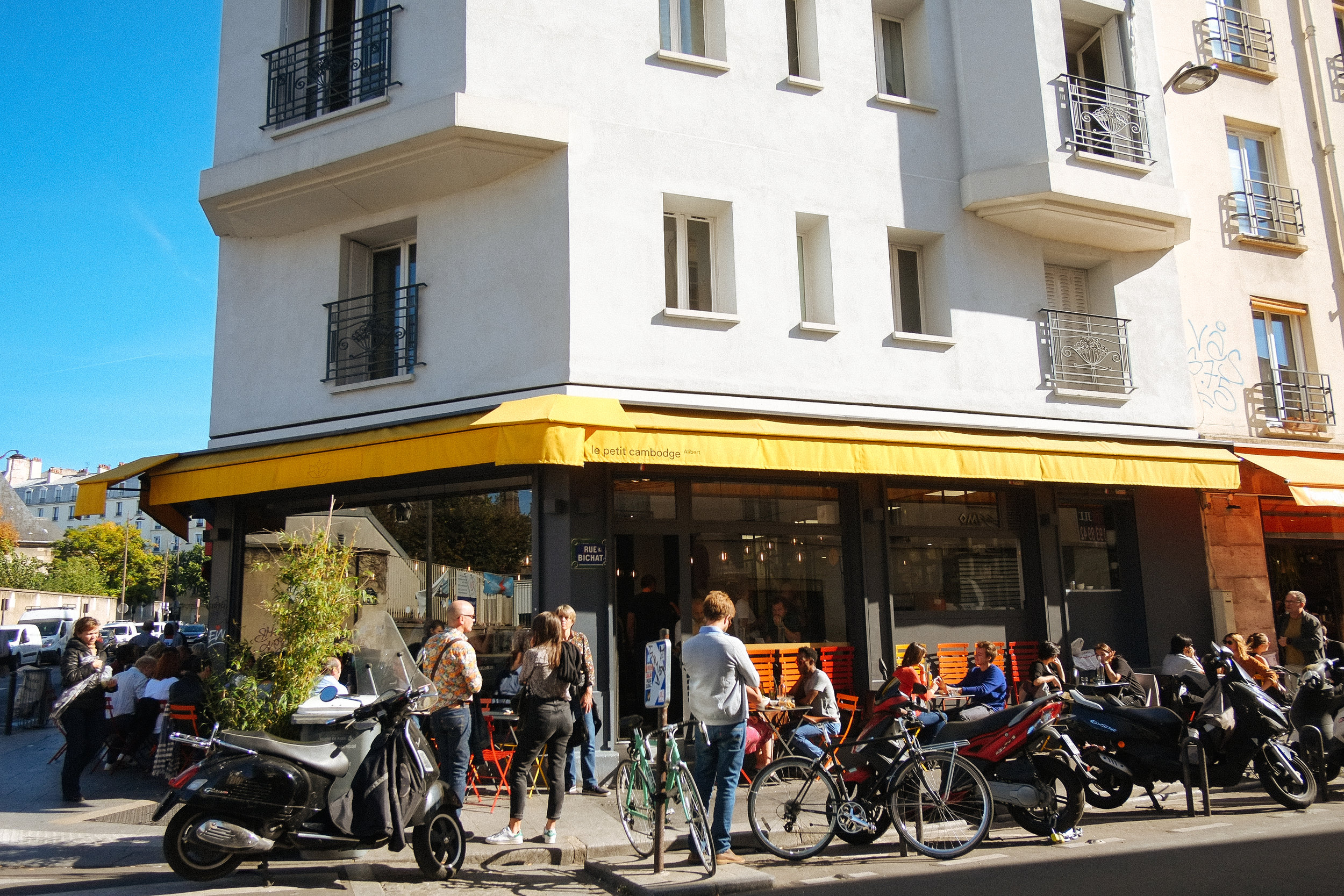 Le Petit Camodge - 2018-10-12: One of the best Cambodian meals i've ever had. Well the only Cambodian meal i've ever had… Le Petit Cambodge sits in the Canal Saint Martin area of the 10th arrondissement. Unfortunately after the fact, we learned that this was one of the targets of the 2016 terrorist attacks.