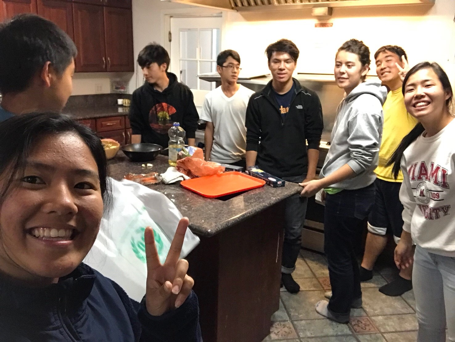 Cooking dinner as a team!