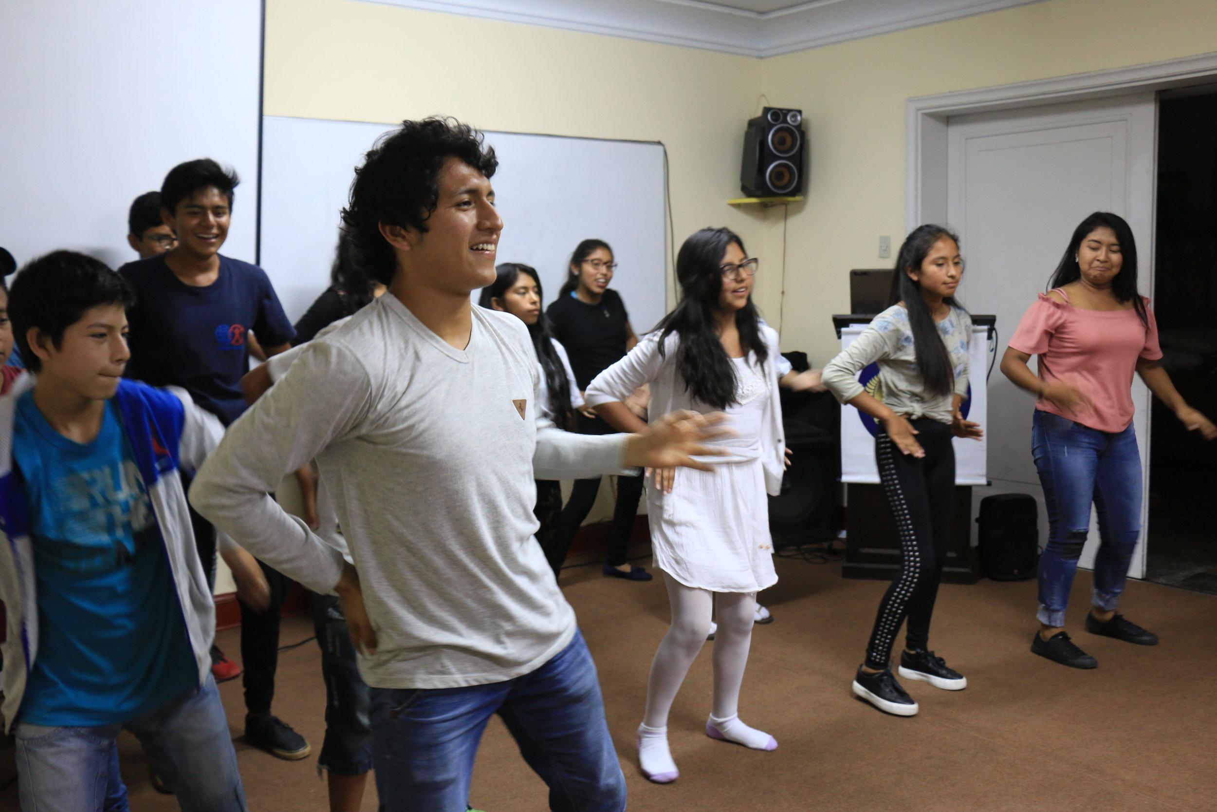 High School Workshop Group Performing a Dance Medley