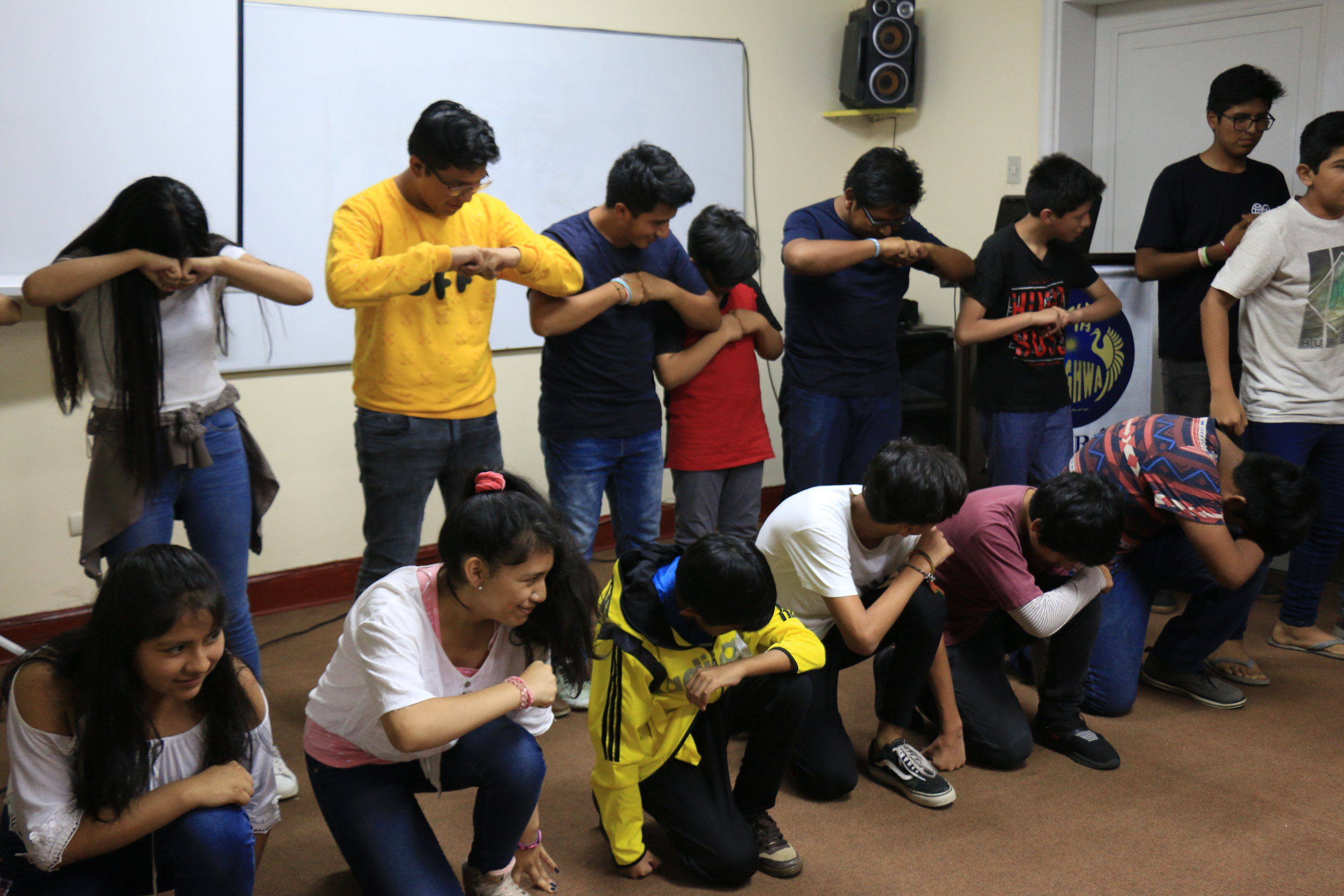 High School Workshop Group Performing a Chant