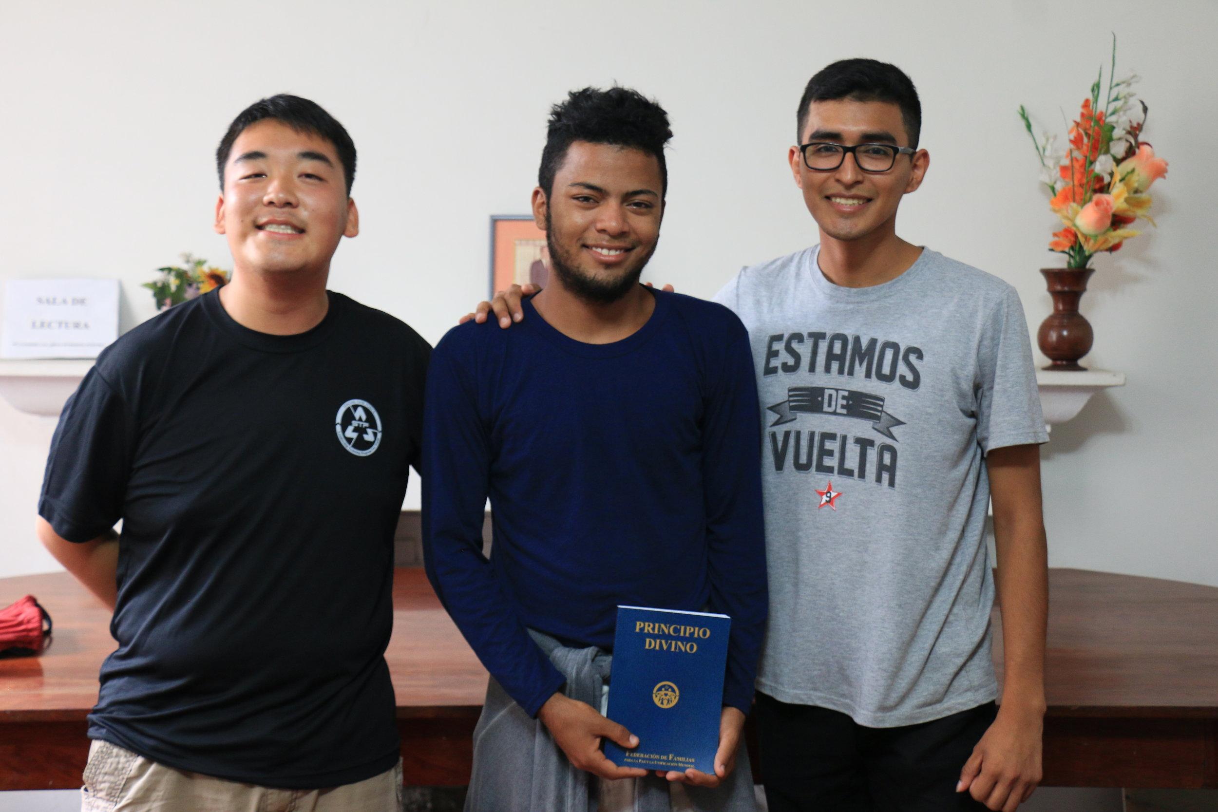 Sotetsu Honda, Christofer Gonzalez, and Dokhwa Miraval
