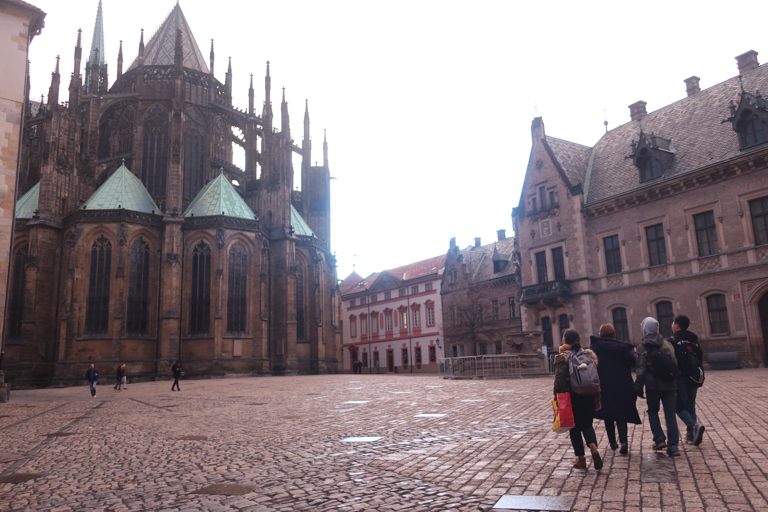 Visiting Prague Castle with Christine