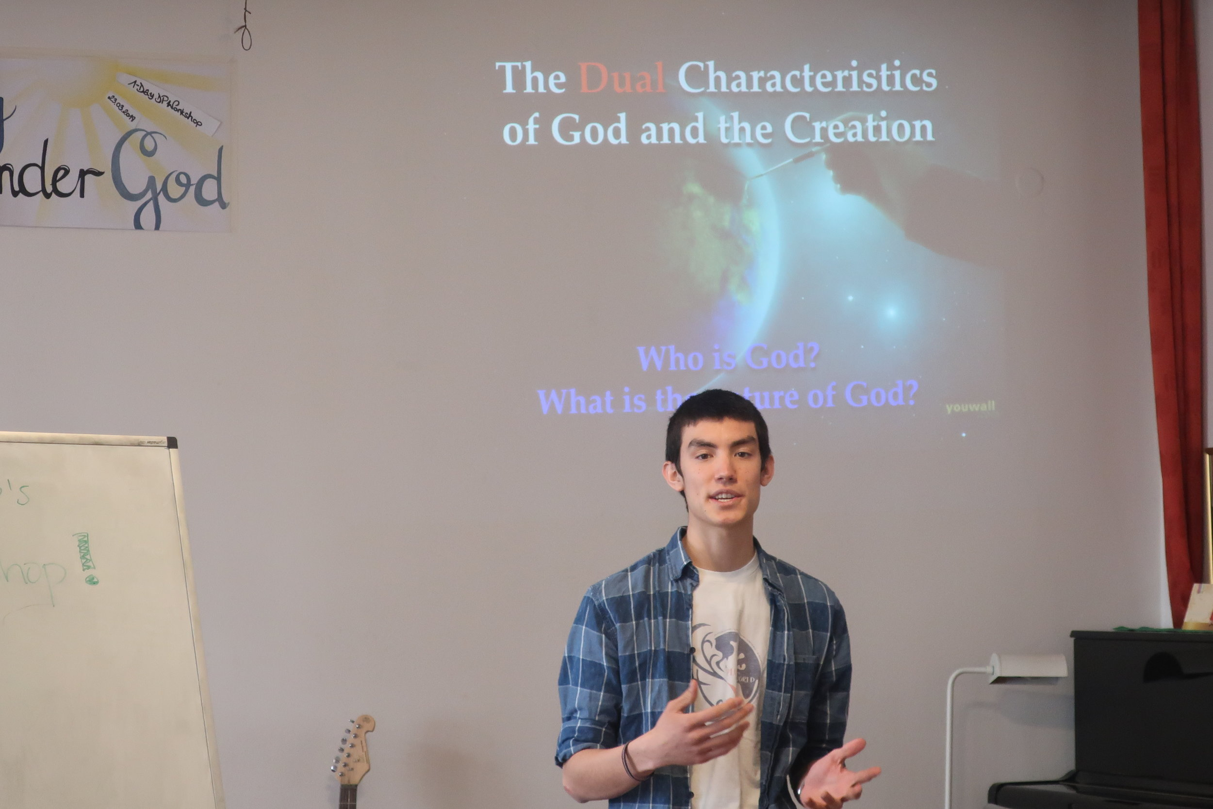Francesc (20) giving Principles of Creation lecture